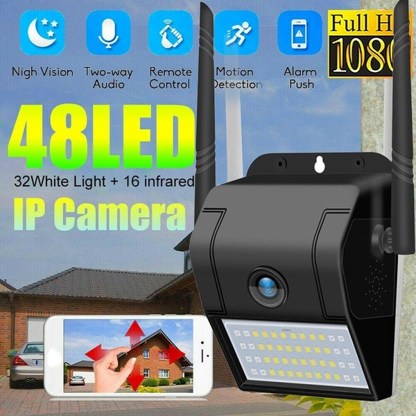 PT 1080P Camera Wall Lamp Camera 180Degree Panoramic Night Vision Detection ET White Only