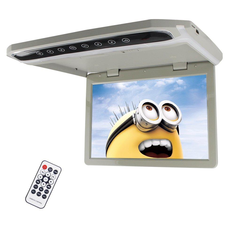 EinCar Roof Mount Car Flip Drop Down Overhead 180 Swivel Screen TFT Wide Screen Monitor With Wireless Remote Control