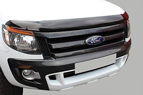 Black Bonnet Guard For 2012 Ford Ranger (Black) No Logo