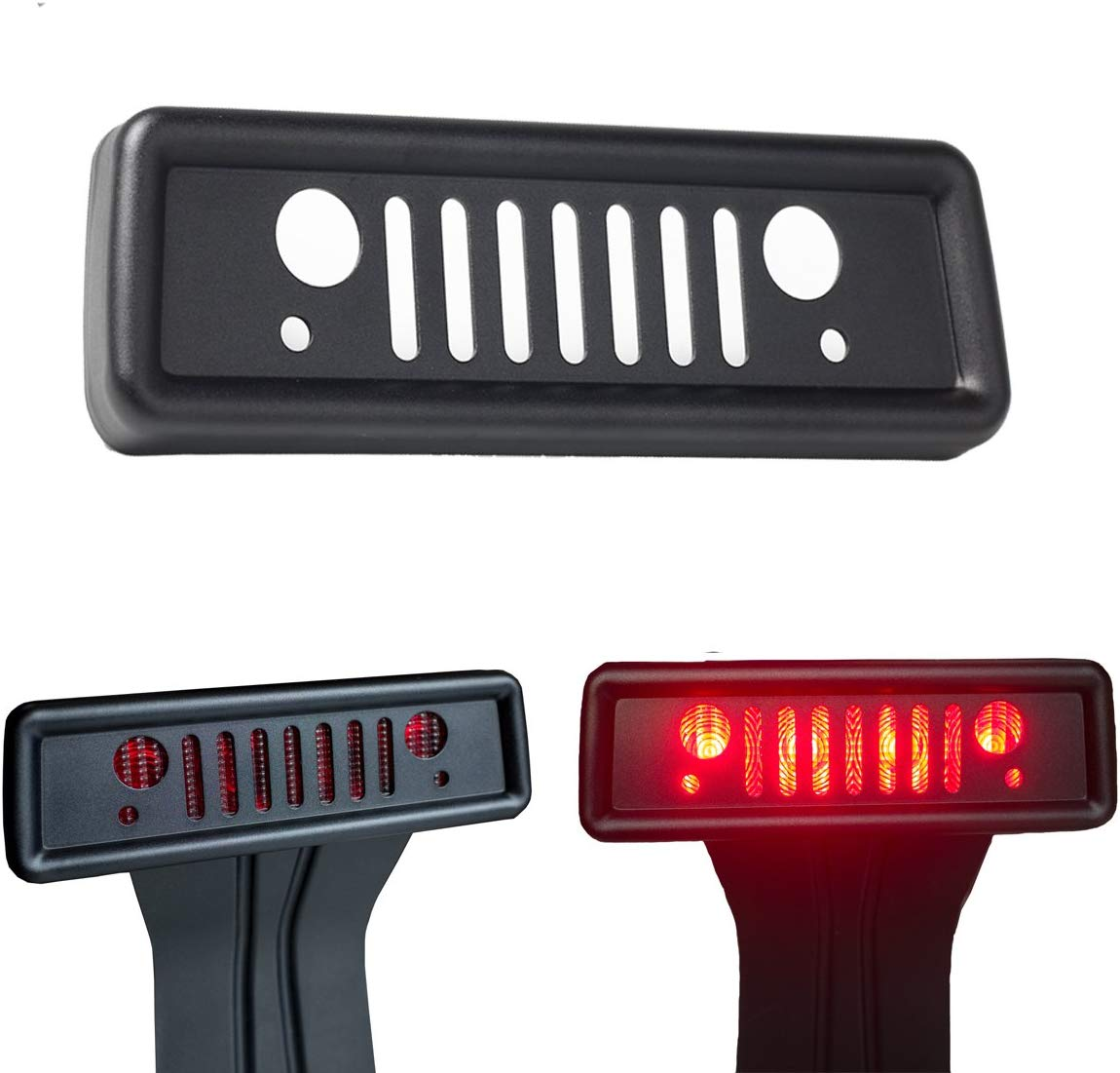 Brake Light Cover For Jeep Wrangler Third Tail Light Cover Rear Lamp Protector For 2007-2017 Jeep Wrangler JK And JKU Unlimited