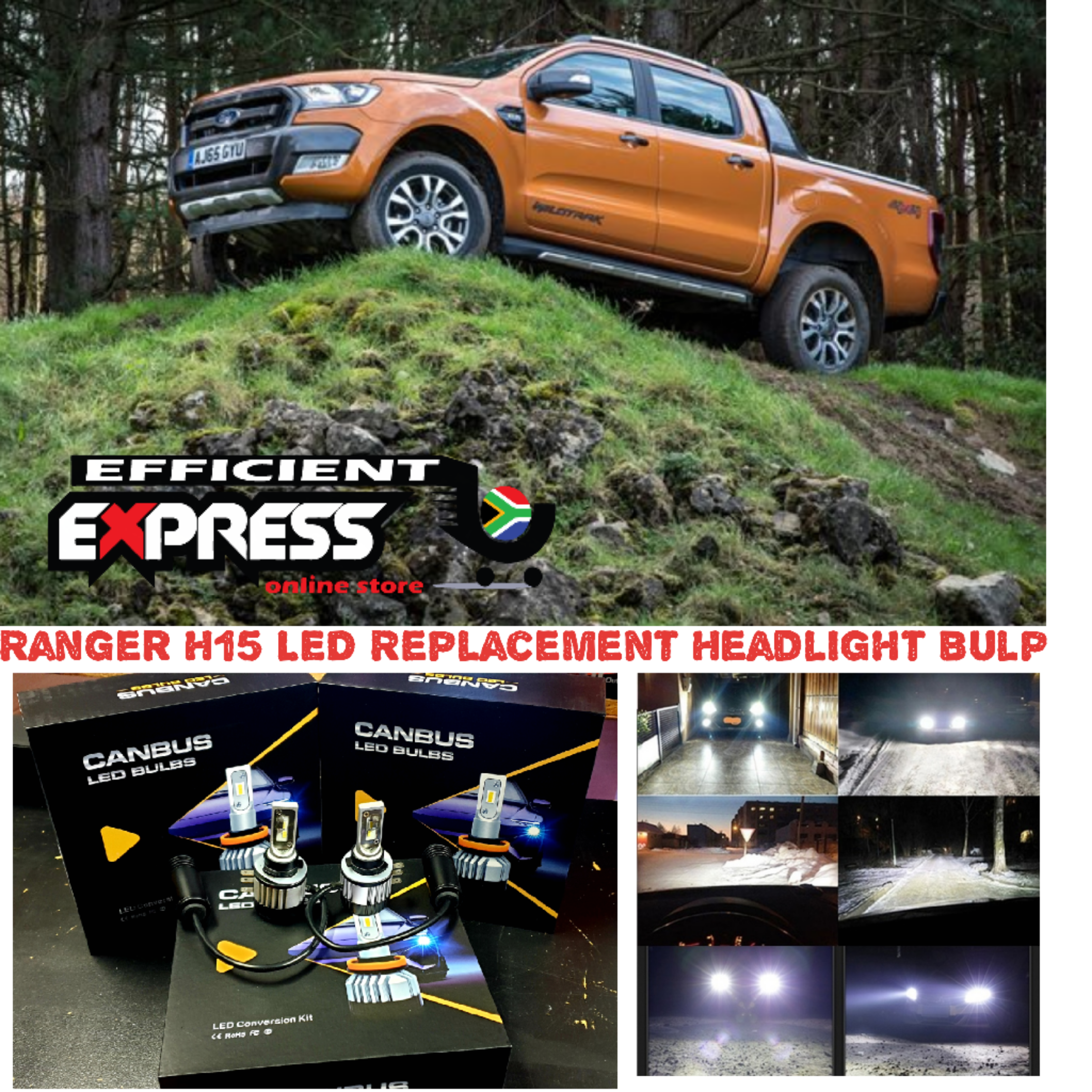 H15 Canbus Ready LED Headlights (High Beam/Brights)