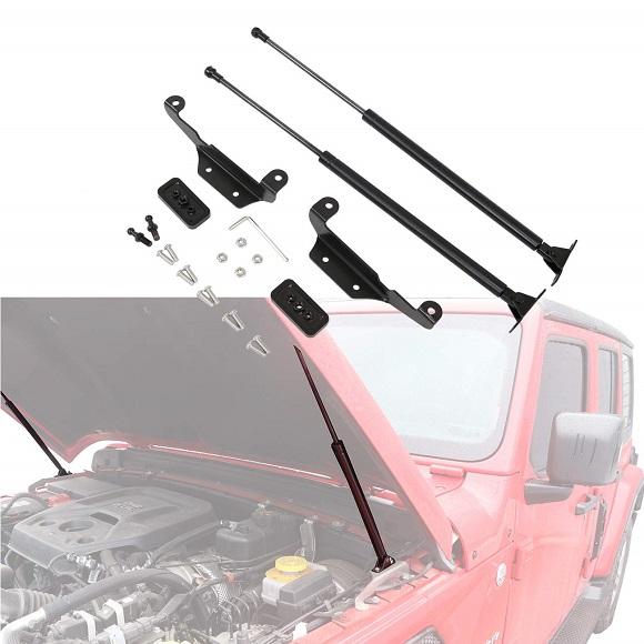 Jeep Wrangler JL JLU 2018+ Assisted Hood Lift Support Kit