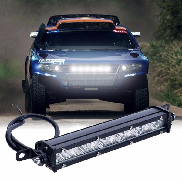 1pc 18W 6000K LED Work Light Bar Driving Fog Lamp Off Road SUV Car Boat Truck Super Slim EJC