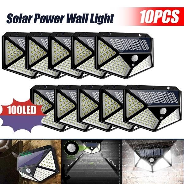 10pcs 2020 New LED Solar Wall Light Motion Sensor Outdoor