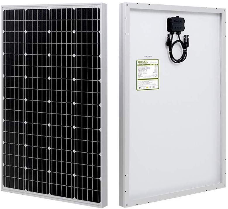 100 Watt Monocrystalline 12V Solar Panel With High Efficiency Module PV Power For Battery Charging Boat, Caravan, RV And Any Other Off Grid Applications