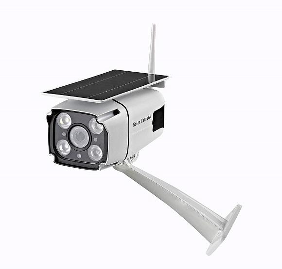 Solar Powered Wireless Security Camera- WiFi IP Solar CCTV Camera Built In Rechargeable Battery, SD Card Storage, IP67 Waterproof, Remote APP, PIR Sensor…