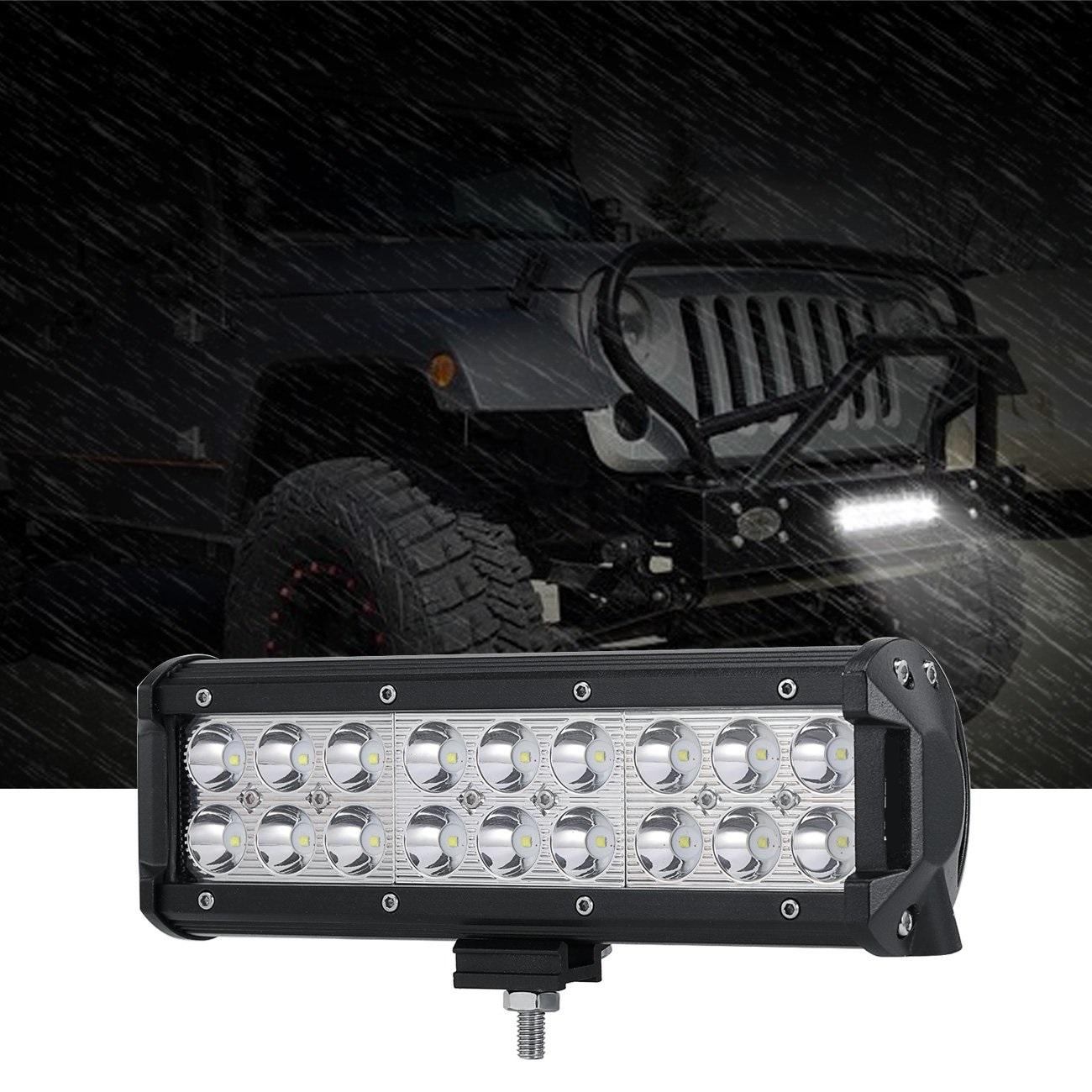 9inch LED Light Bar 54W Led Work Lights Spot Beam Off-Road Driving Lights Waterproof With Mounting Brackets For Jeep Pickup Trucks SUV ATV UTV Ford