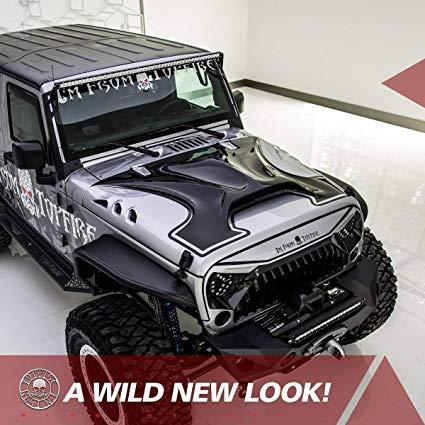 Jeep JK Wrangler Aggressive Hood