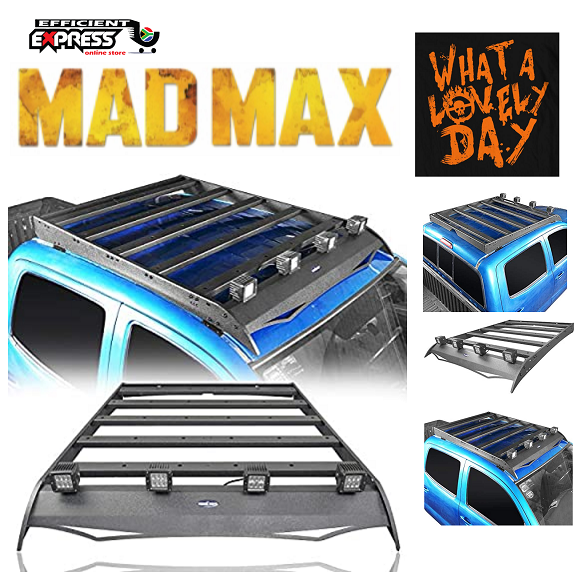 MADMAX Roof Rack Luggage Cargo Carrier W/4x18W LED Lights
