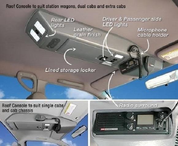 Roof Console – Landcruiser / Hilux / Revo / Ranger / Defender / Navara / Toyota (Select Make & Model Below)