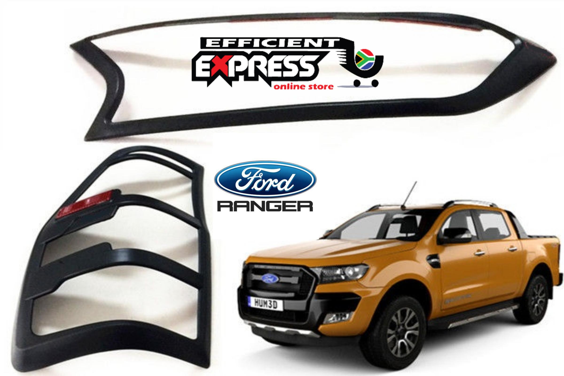 Ford Ranger T7 Headlight Trim X 2pcs And Tail Light Trim X 2pcs Combo