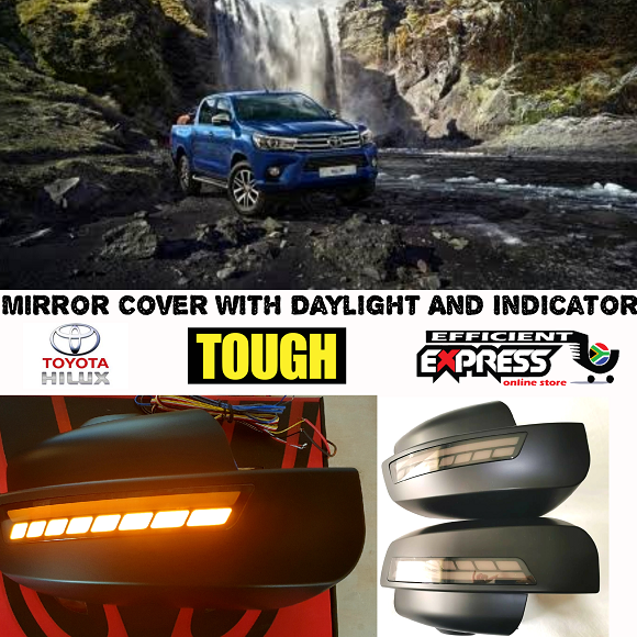 Hilux Revo And Rocco / Fortuner 2015 To Current Mirror Cover With Day Time Runner And Indicator