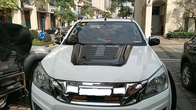 Bonnet Cover ABS Black Bonnet Scoop For Isuzu D-Max 2012 To Current