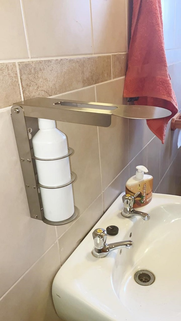Stainless Steel Wall Mount Sanitizer Dispenser