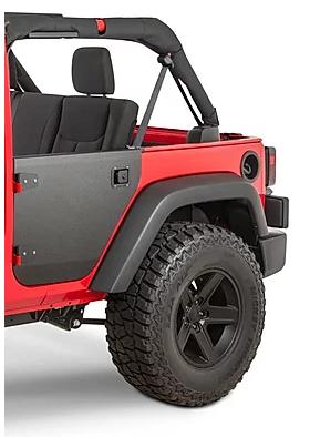 Jeep Wrangler JKU Aluminum Rear Half Door Tube Tubular Door