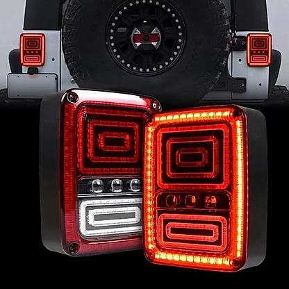 Jeep Wrangler Snake Style Rear Tail Light For 07-18 JK/JKU Wrangler Unlimited EU Version