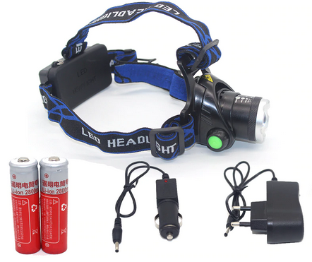Headlight Headlamp CREE XM-L T6 Powerful Led Flashlight Lantern Rechargeable 2*18650 Battery + Charger Bicycle Head Light Lamp