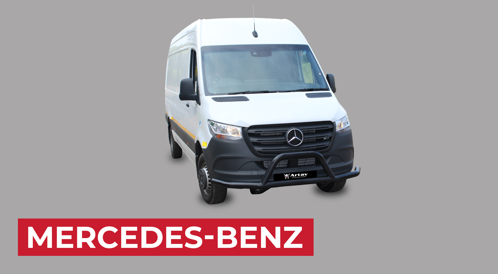 Mercedes Sprinter 2019+ Front Styling Bar  Black Stainless Steel