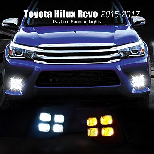 Fog Lamp Cover (LED) 4 Square – Toyota Revo