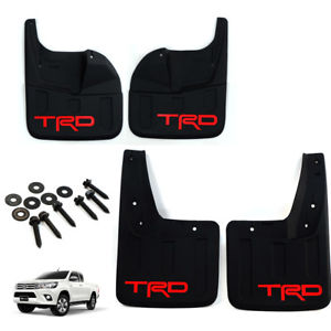 Mud Guards Front + Rear (red TRD) V3 – Toyota Revo