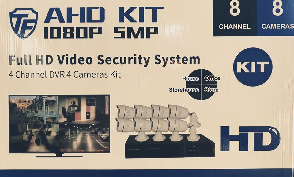 8Ch AHD CCTV Kit 5mp | Motion Detection | Remote Viewing