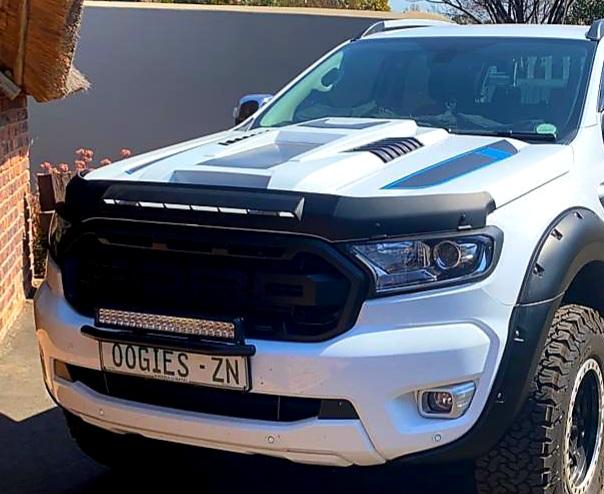 Ford Ranger 3pc Bonnet Protector Matt Black T7