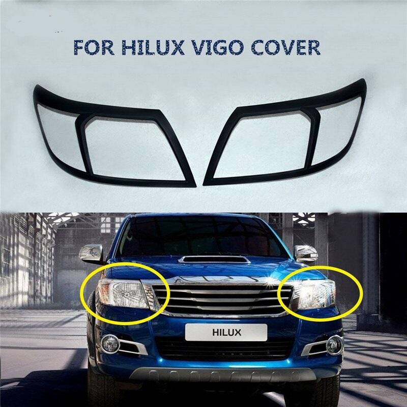 Headlight Trim For Toyota Hilux Vigo Black NS