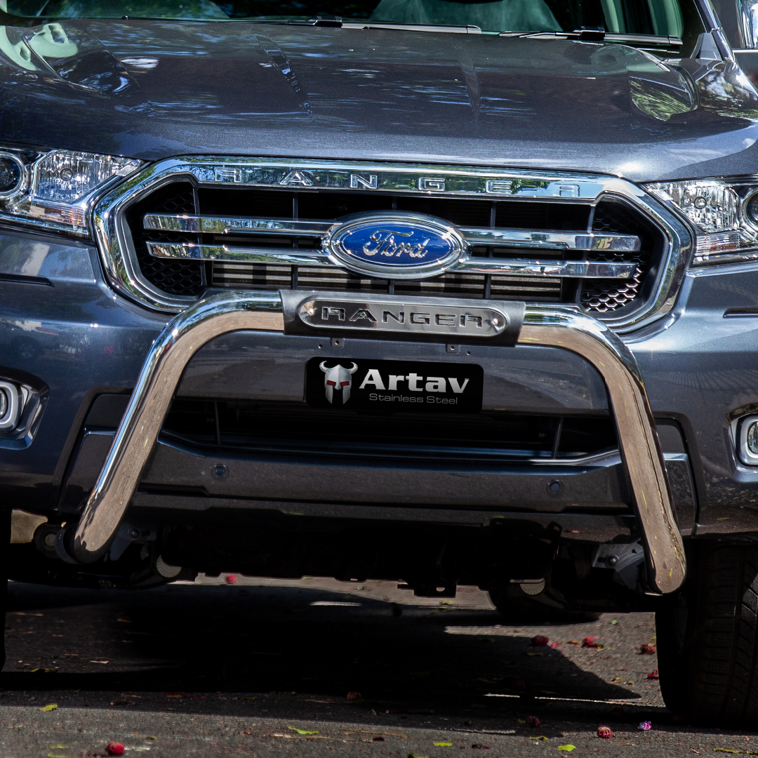 Ford Ranger T6 Facelift PDC Nudge Bar Stainless 2016+ The Oval Range