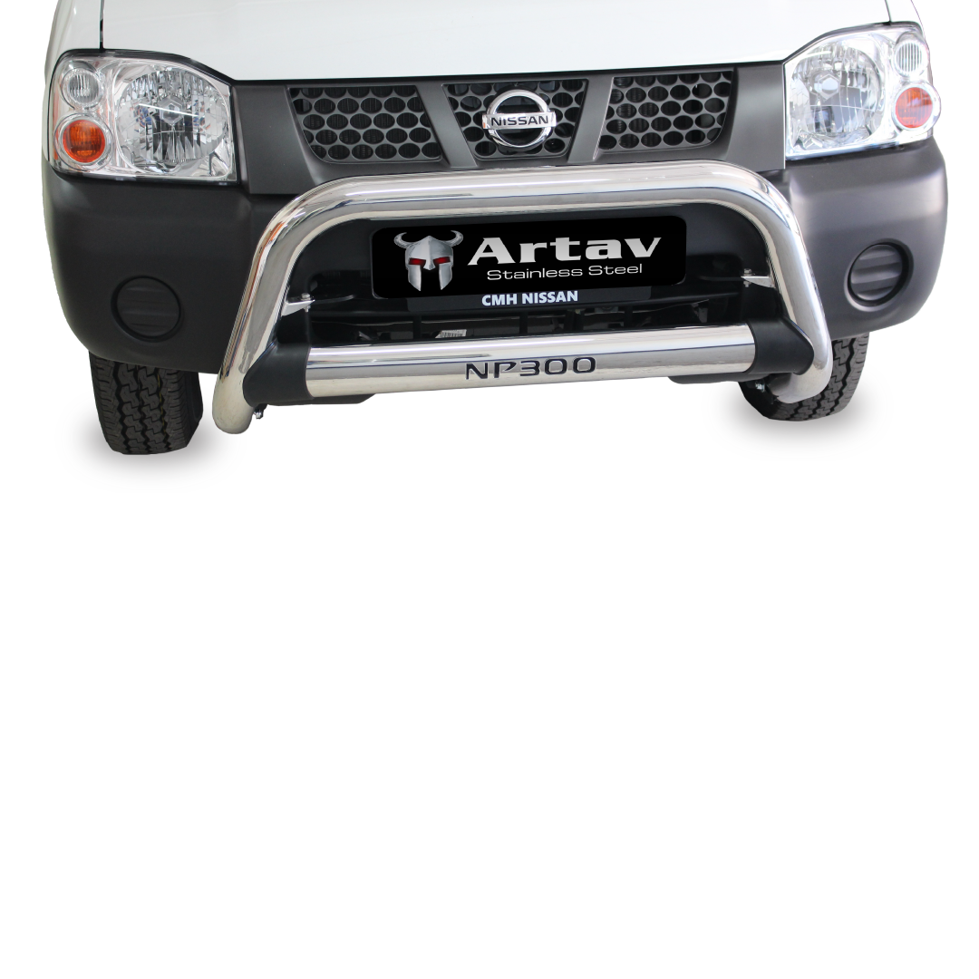 Nissan NP300 Nudge Bar Stainless (Fits SC And DC Models) 2012+