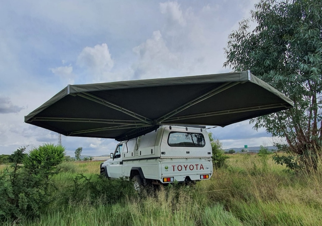 Ford Ranger Toyota Hilux Land Cruiser Camping Delta Wing B2 Awning – 270 Degree