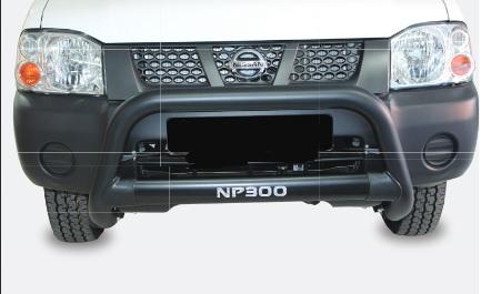Nissan NP300 Nudge Bar Black (Fits SC And DC Models) 2012>