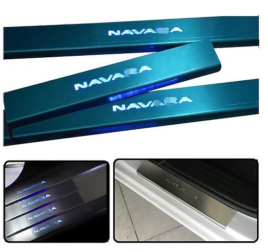 Nissan Navara LED Door Sill Plate