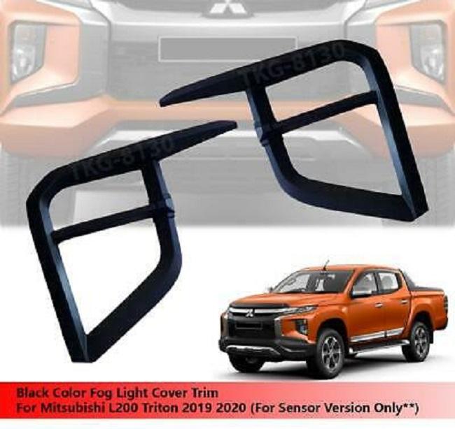 Fog Light Lamp Cover Trim Black Color Use For Mitsubishi Triton L200 2019 2020 NS