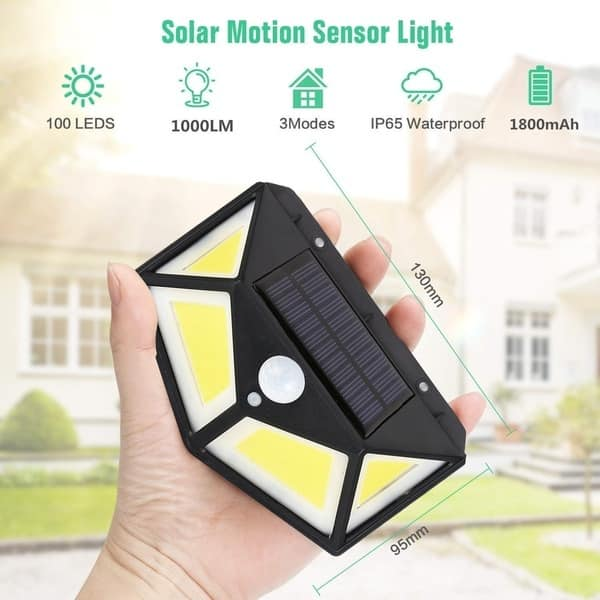 6 X FOYU 122 COB LED Solar Wall Light Combo