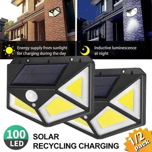 2  X FOYU 122 COB LED Solar Wall Light Combo