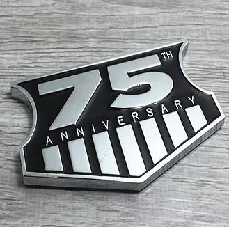 Jeep Wrangler 75th Anniversary Metal Emblem Badge