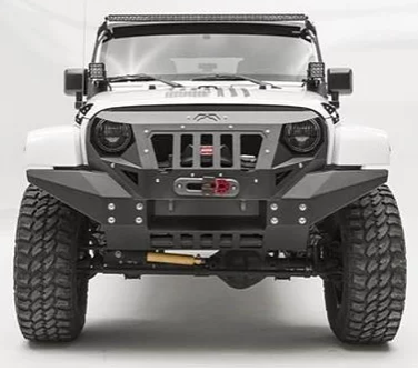 Jeep Wrangler Fab Fours Front Full Width Grumper Bumper And Grill