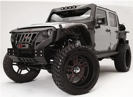 Jeep Wrangler Fab Fours Grumper Front Replacement Bumper And Grill (Courier Not Included, Please Request Separate Quote)