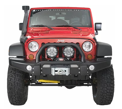 Jeep Wrangler AEV Premium Front Replacement Bumper Steel (Courier Not Included, Please Request Separate Quote)
