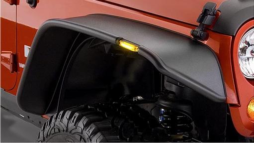 Jeep WranglerMatte Black Flat Style Fender Flares – 4pcs