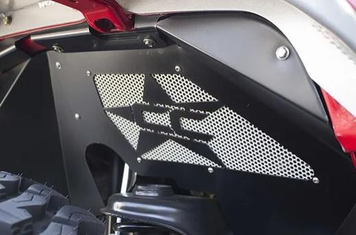 Jeep Wrangler JK Crawler Front Inner Fender Kit – Aluminium Black Powder-coated