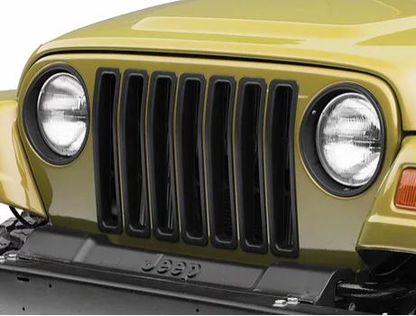 Jeep Wrangler – TJ Matte Black Billet Grill Inserts – AL