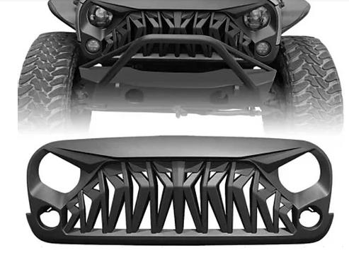 Jeep Wrangler Mustang Grill Matte Black