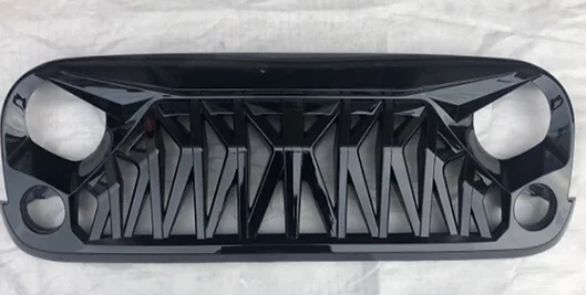 Jeep Wrangler Mustang Grill Glossy Black