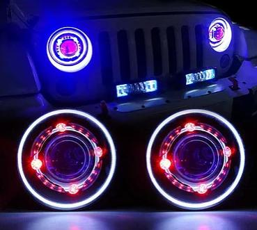 JLED01 – Demon Eye LED Projector Headlight – AL