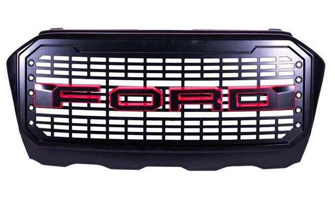 Ford Ranger T7 Facelift F150 Style Grill With LED