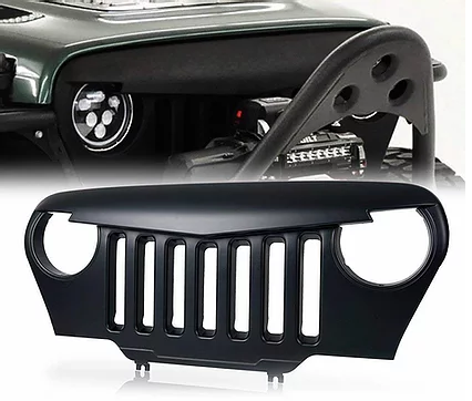 Jeep Wrangler TJ Angry Bird Grille – Matte Black