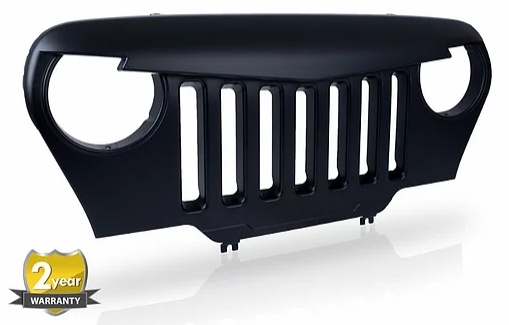 Jeep Wrangler TJ Angry Bird Grille Glossy Black