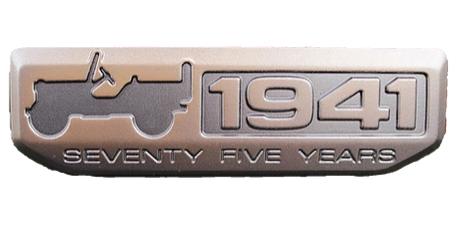 Jeep Wrangler 1941 Metal Badge