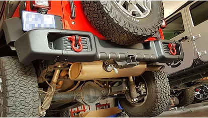 Jeep Wrangler Spartacus Rear Replacement Bumper For 2010-18 JK Wrangler Steel (Courier Not Included, Please Request Separate Quote)